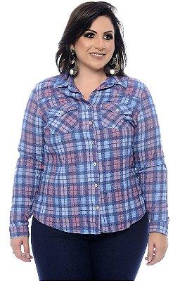 Camisa Xadrez Plus Size Lineia