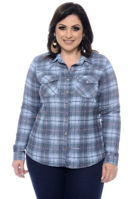 Camisa Xadrez Plus Size Lyna