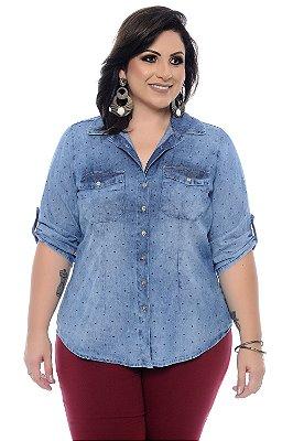 Camisa Jeans Plus Size Saryna