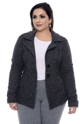 Casaqueto Tweed Plus Size Nitiely