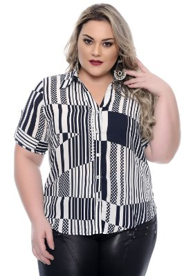 Camisa Plus Size Varese