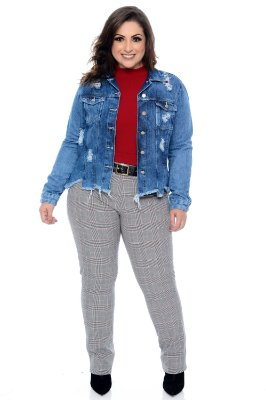 Jaqueta Jeans Plus Size Anely