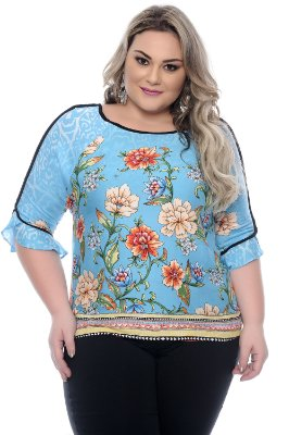 Blusa Plus Size Travels