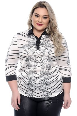 Camisa Plus Size Otrilly