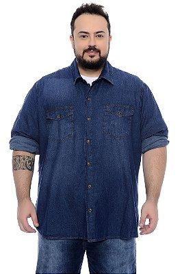 Camisa Jeans Plus Size Braian