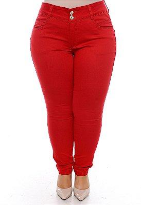 Calça Vermelha Plus Size Brittany