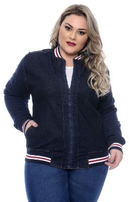 Jaqueta Jeans Plus Size Hiandra