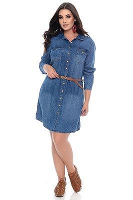Vestido Jeans Plus Size Alimos