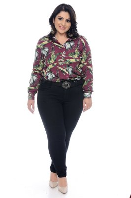 Camisa Crepe Plus Size Syta