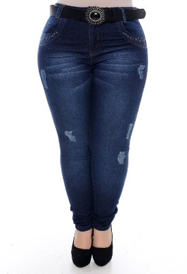 Calça Skinny Jeans Plus Size Ennis