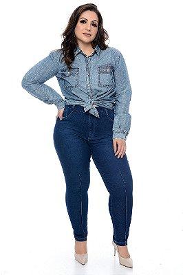 Camisa Jeans Plus Size Malika