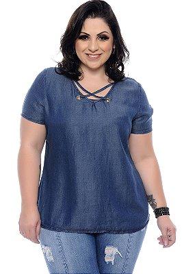 Blusa Jeans Plus Size Rubhia