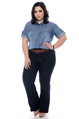 Camisa Jeans Plus Size Regyne