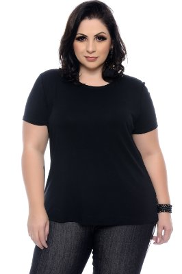 Blusa Plus Size Basic Black