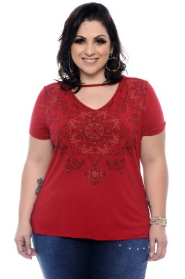 Blusa Plus Size Shoker Vermelho