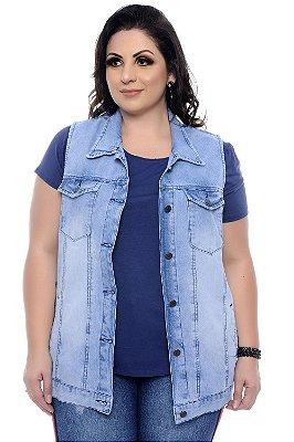 Colete Jeans Plus Size Tuanne