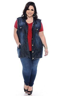 Colete Jeans Plus Size Cilara