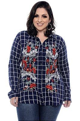Camisa Xadrez Plus Size Darlys
