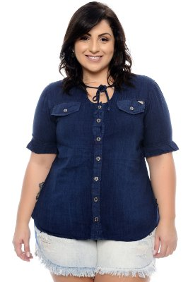 Camisa Plus Size Amally