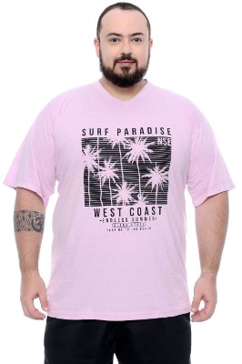 Camiseta Masculina Plus Size Welles