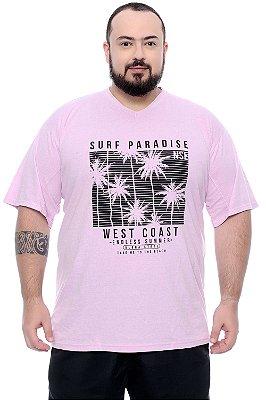 Camiseta Masculina Plus Size Welles