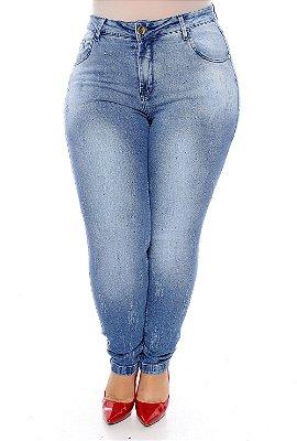 Calça Jeans Cropped Plus Size Micaeli