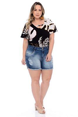 Shorts Jeans Plus Size Dariolli