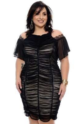 Vestido Plus Size Edilay