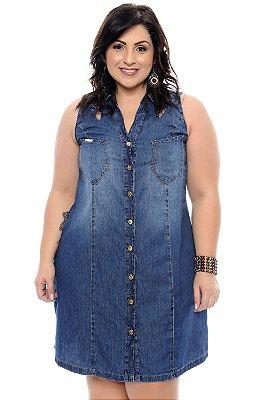 Vestido Chemise Jeans Plus Size Kyara