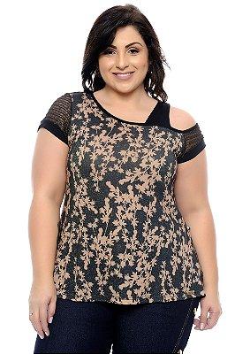 Blusa Plus Size Brwnna