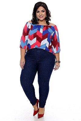 Calça Legging Jeans Plus Size Allys