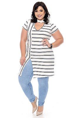 Maxi Blusa Listrada Plus Size Deusa