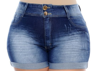 Shorts Jeans Plus Size Hunkel