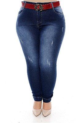 Calça Skinny Jeans Plus Size Mhery