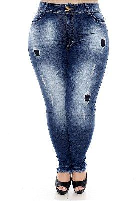 Calça Cigarrete Jeans Plus Size Sammy