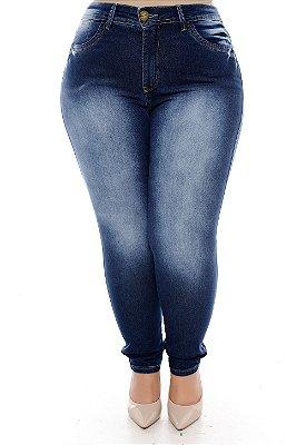 Calça Cigarrete Jeans Plus Size Vanissy