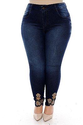 Calça Cigarrete Jeans Plus Size Ayumi