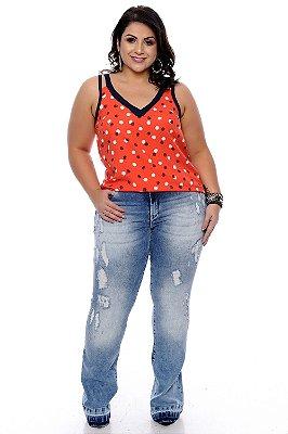 Calça Jeans Flare Plus Size Karle