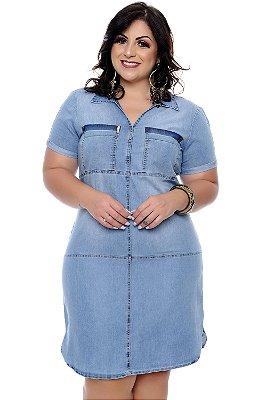 Chemisier Jeans Plus Size Cezini