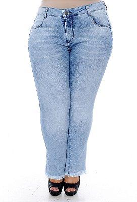 Calça Jeans Cigarrete Plus Size Weliza