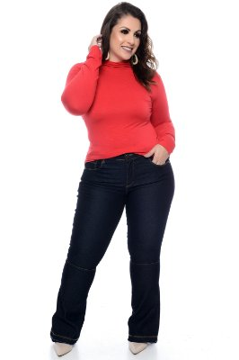 Calça Jeans Flare Plus Size Elenara