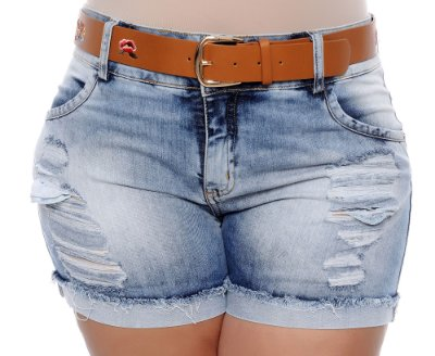 Shorts Jeans Plus Size Mocinni