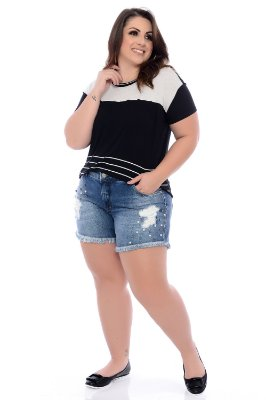 Shorts Jeans Plus Size Alcina