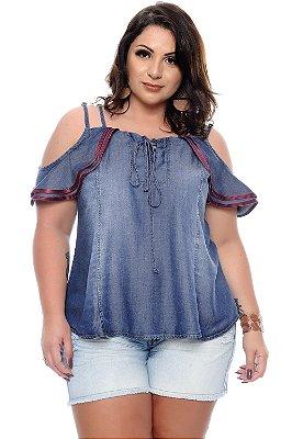 Blusa Jeans Plus Size Mayda