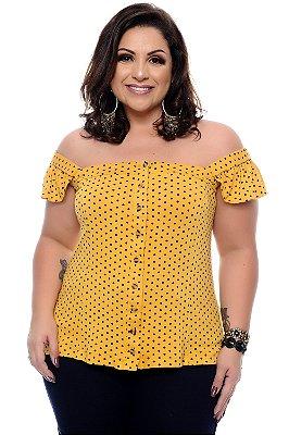 Blusa Poá Plus Size Nalla