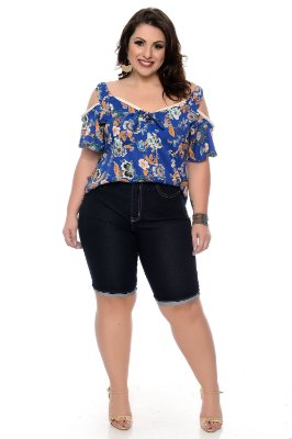 Bermuda Ciclista Jeans Plus Size Janeth