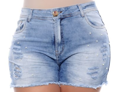Shorts Jeans Plus Size Walis