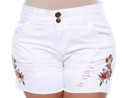 Shorts Branco Plus Size Venny