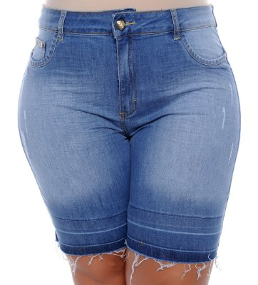 Bermuda Jeans Plus Size Celiany