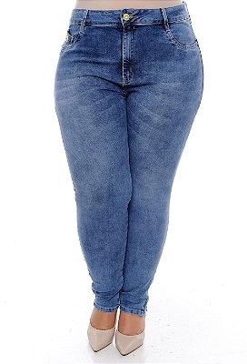 Calça Cigarrete Jeans Plus Size Coradini